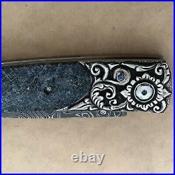 William Henry B10 Coral Ridge Pocket Knife Sterling Sapphire 2010 LTD 92/100 NIB