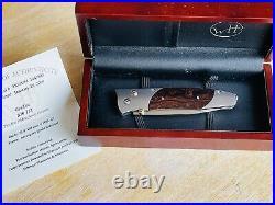 William Henry Gentac Knife B30 TIZ ZDP-189 Ironwood Spessartite
