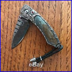 William Henry Knife B09 061514 CARVED STERLING BEAUTIFUL SCALE Retail $1550