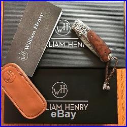 William Henry Knife B09 West0n Sterling Silver Snakewood Retail $1350