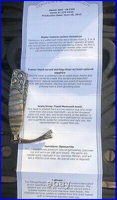 William Henry Knife Collectors Series One Of A Kind June 2013 Fossil Mammoth