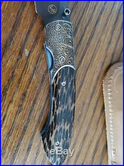 William Henry Knife Limited Edition T12 Onyx #15 Of 100
