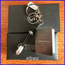 William Henry Knife Touchstone 1 Key Chain Sterling Skull Black Diamonds