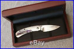 William Henry Knives Custom ZDP-189 Monarch titanium titan laminiated steel blad