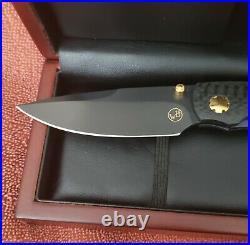 William Henry Studio T12-CFBT (Carbon Fiber Black) knife