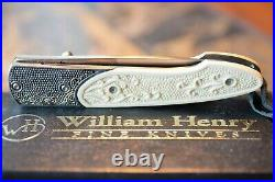 William Henry T10-AG3 Lancet Linerlock Titanium Frame / Silver/23K Gold Bolster