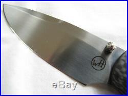 William Henry T12-CF Carbon Fiber Handles Gentleman's Folding Knife