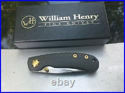 William Henry pocketknife T09BT Titanium frame, CF handle new in box