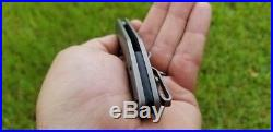 Zero Knives (Ram Maramba) KAVEH MINOR Folding Titanium Knife 154CM Rare EDC