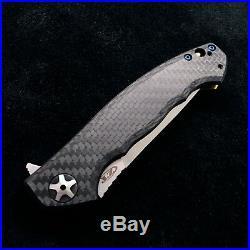 Zero Tolerance ZT 0452CF Plain Edge Folder BWL Flomascus Ano custom zt452cf