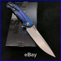 Zero Tolerance ZT 0452CF Plain Edge Folder BWL Green Purple Hex Ano zt452cf