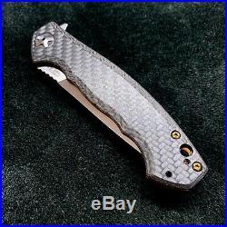 Zero Tolerance ZT 0452CF Plain Edge Folder BWL bronze Flomascus Ano zt452cf