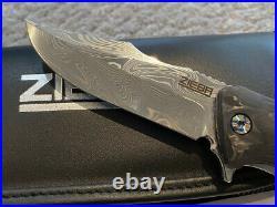 Zieba Knives Custom S7 Joker Damasteel Rare Discontinued Why So Serious