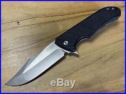 Zieba Knives S3 Snake Titanium/G-10 in Nitro-V Steel, Custom Zieba Bead, NIB