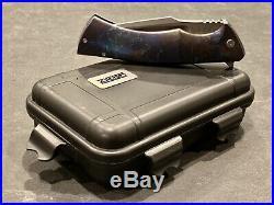 Zieba Knives S5 Stolen Souls 4 Blade Blue Smoke Anodized Handles Memento Mori